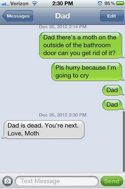 So funny! I'm dying.