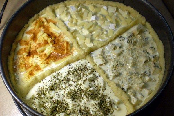 Пирог «Четыре сыра» в духовке