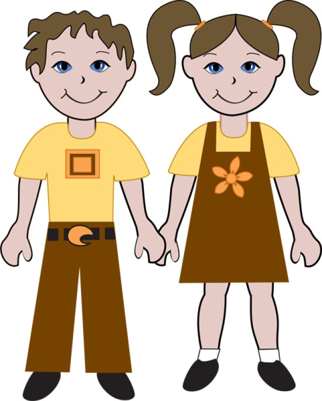 Kids Of Diverse Races: American Boy and Girl