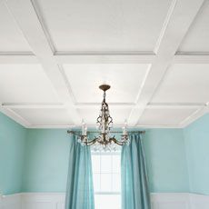 I really like the look of this shallow coffered ceiling