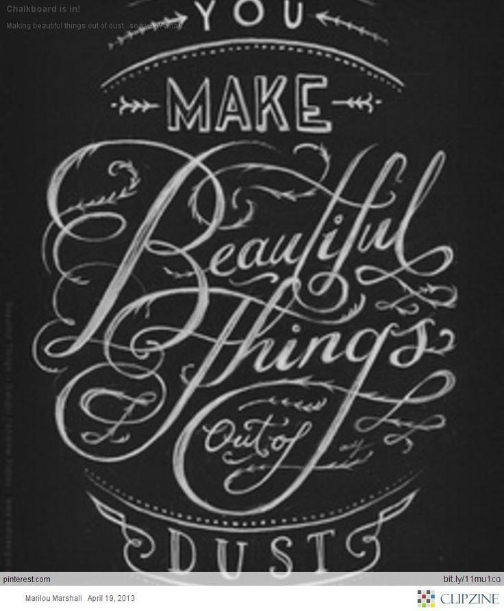Simple Typography Spells Out A Powerful Motivation For: Chalkboard Art: I'm Going To Start Trying Out Cool