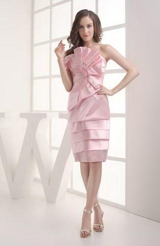 Sheath Column Strapless Elastic Satin Graduation Dress - Order Link: http://www.thebridalgowns.com/sheath-column-strapless-elastic-satin-graduation-dress-tbg5560 - SILHOUETTE: Sheath/Column; SLEEVE: Sleeveless; LENGTH: Knee Length; FABRIC: Elastic Satin; EMBELLISHMENTS: Flower - Price: 115.99USD