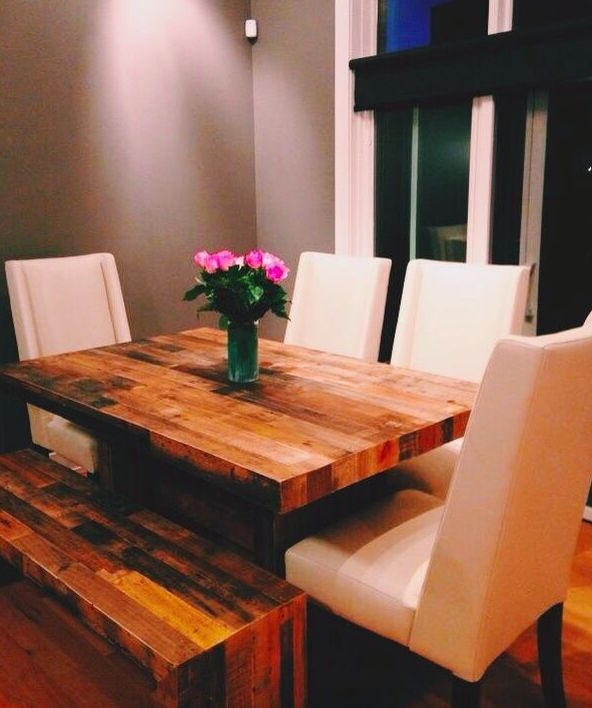 reclaimed wood dining room table #emmerson