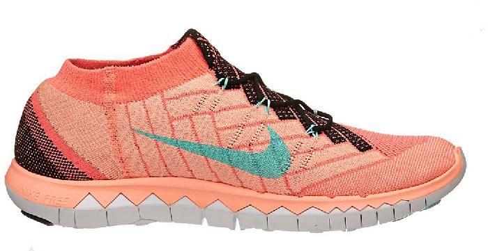 Nike Free 3.0 Flyknit Lys Oransje Online Joggesko for Dame
