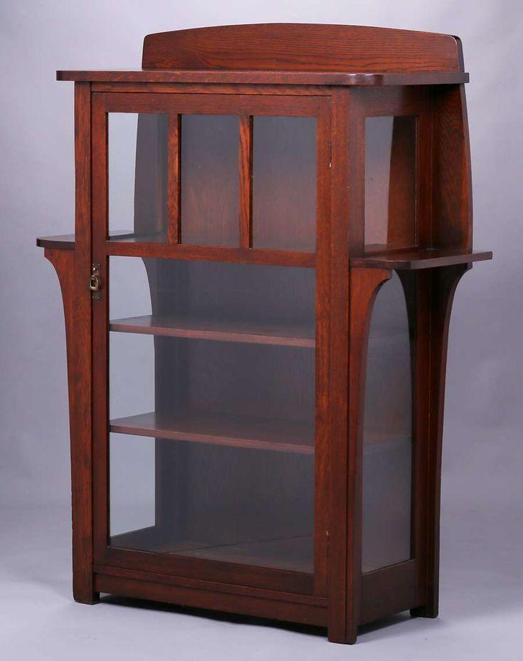 Limbert One Door China Cabinet #452. Signed. Excellent Original Finish  (except