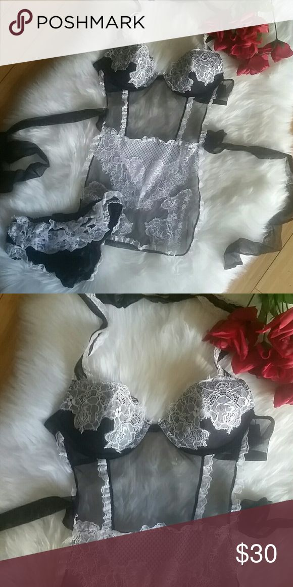 🌶FINAL SALE🌶Maid lingerie Sexy lace and sheer maid lingerie!! Sexy Little Things Intimates & Sleepwear