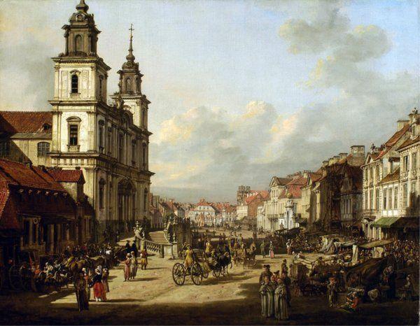 Bernardo Bellotto, La Chiesa di Santa Croce, olio su tela, Varsavia, Castello reale foto Andrzej Ring & Bartosz Tropilo