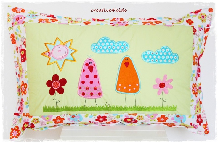 Travesseiro em patchwork