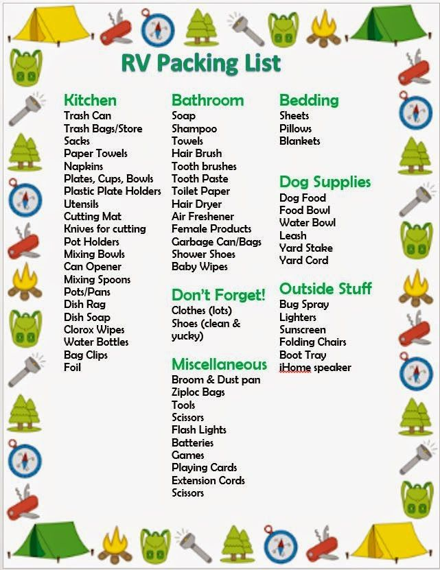 Little Lima Beans: RV Packing List