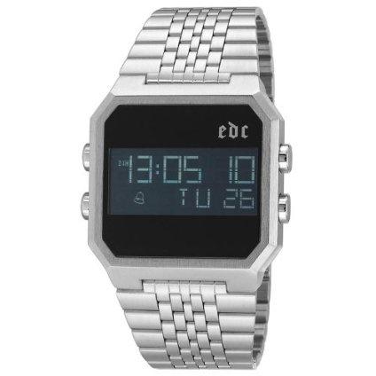 edc by esprit Men's EE100551001 Retro Digital Cool Silver Watch