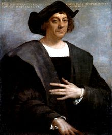 """On the evening of 3 August 1492, Columbus departed from Palos de la Frontera with three ships: a larger carrack, the Santa María ex-Gallega (""""Galician""""), and two smaller caravels, the Pinta (""""Painted"""") and the Santa Clara, nicknamed the Niña (lit. """"Girl"""") after her owner Juan Niño of Moguer.[41] The monarchs forced the Palos inhabitants to contribute to the expedition. The Santa María was owned by Juan de la Cosa and captained by Columbus. The Pinta and the Niña were piloted by the Pinzón…"""