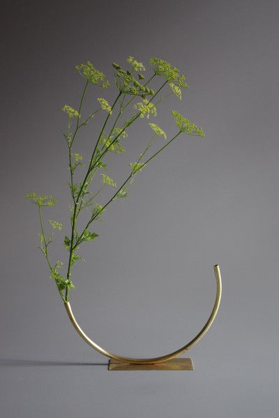 Anna Varendorff Brass Vase 6 - Half Circle