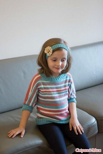 Пуловер летучая мышь с описанием и еще один свитерок для дочки