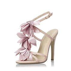 Sandales - $49.99 - Similicuir Talon stiletto Sandales Escarpins avec Fleur en satin chaussures  http://www.dressfirst.fr/Similicuir-Talon-Stiletto-Sandales-Escarpins-Avec-Fleur-En-Satin-Chaussures-087016477-g16477