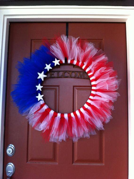 Patriotic Wreah by starspangledgypsy on Etsy