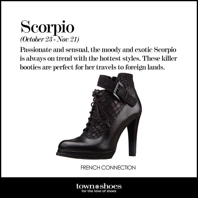 Are you an exotic #Scorpio that is always on trend? These boots are for you! #horoscope #townshoes