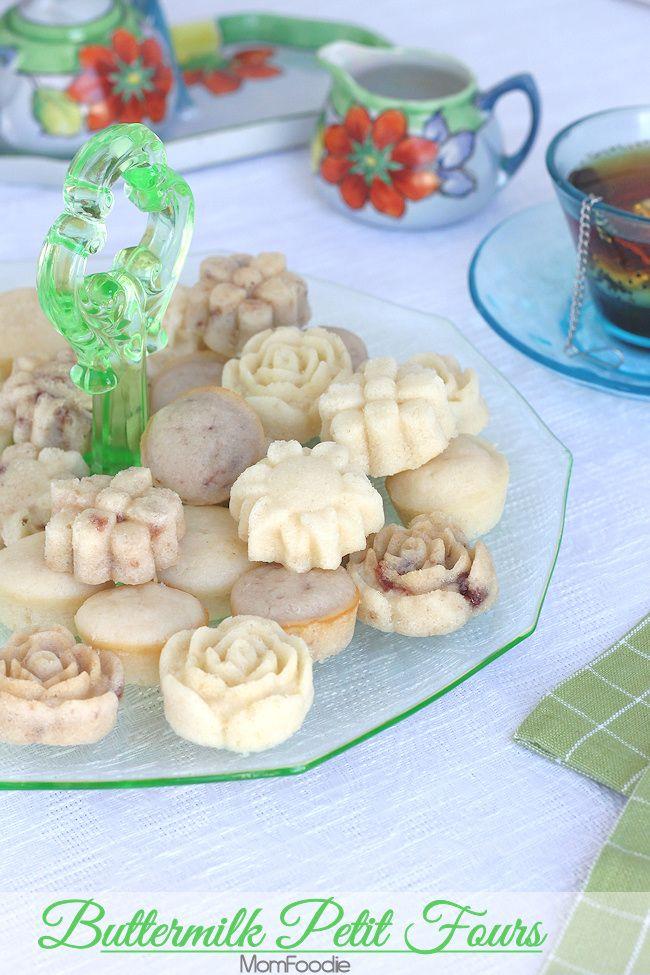 Buttermilk Petit Fours Recipe: Tea Party Recipes - Mom Foodie