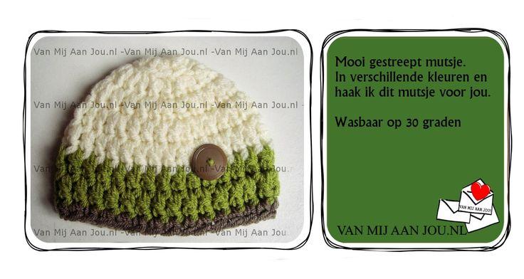 newborn baby peuter kleuter maat - jongensmuts -  muts op bestelling gehaakt - met de hand op maat en kleur gehaakt - www.vanmijaanjou.nl -