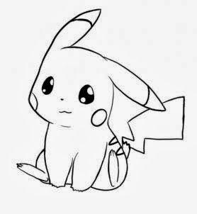 Resultado de imagem para pikachu com bone para colorir