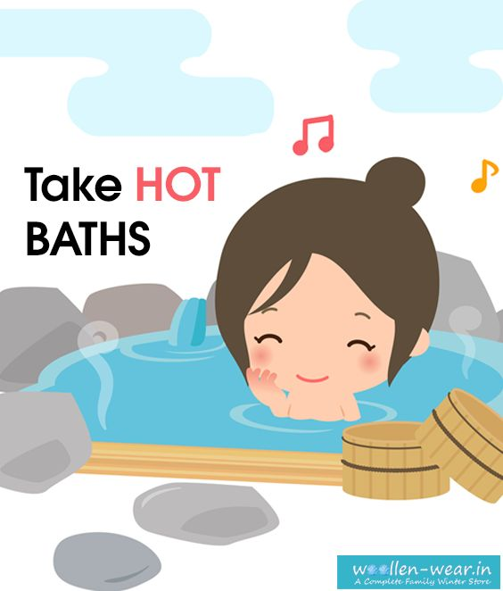 #staywarminwinter #bewarminwinter #warmwinters Take hot baths. They're a nice way to relax your muscles, especially after a stressful day, and can warm you up in no time. If you really want to relax, add some candles and soothing music. Be sure to dry off well afterwards. Learn More Visit https://goo.gl/vgsdt5