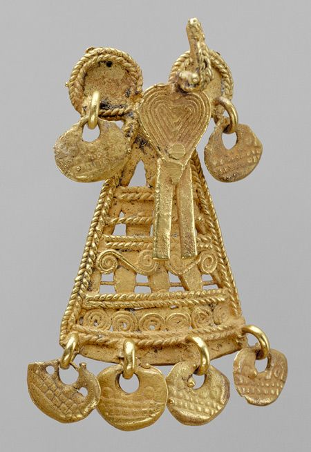 Muisca culture (Colombia)--gold pendant