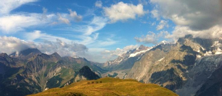 Col de la Seigne visto dal Monte de la Saxe