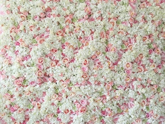 Pink Wedding Flower Wall Panel Backdrop For Wedding Etsy In 2020 Pink Wedding Flowers Flower Wall Wedding Flower Wall