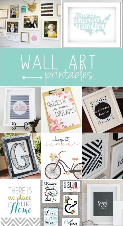 Free Wall Art Printables! Can't wait to print a few of these out!