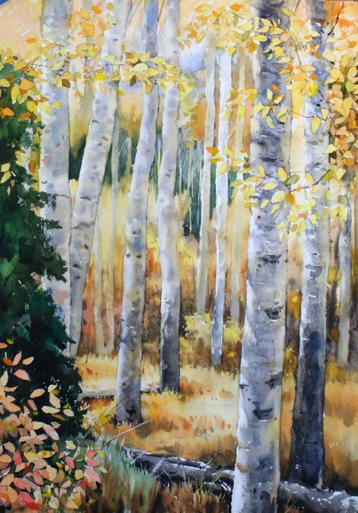 8 Watercolor Landscape PaintingsWatercolor TreesWatercolour
