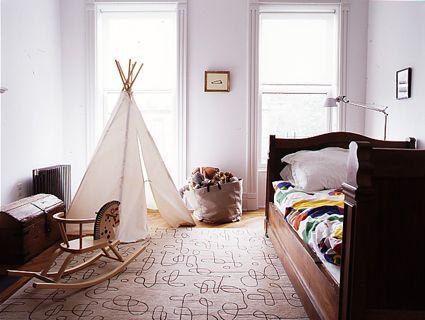 love the light shining through a simple teepee