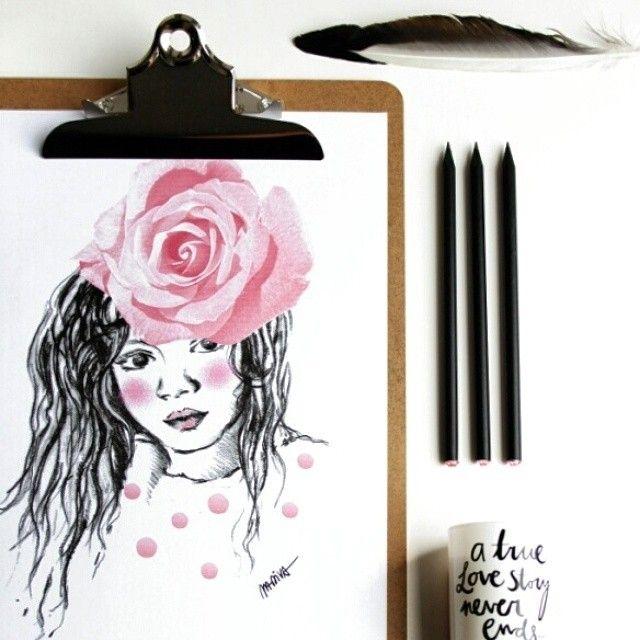 #poster #drawing #illustration #moodboard #blackandwhite #pink #madivacreative