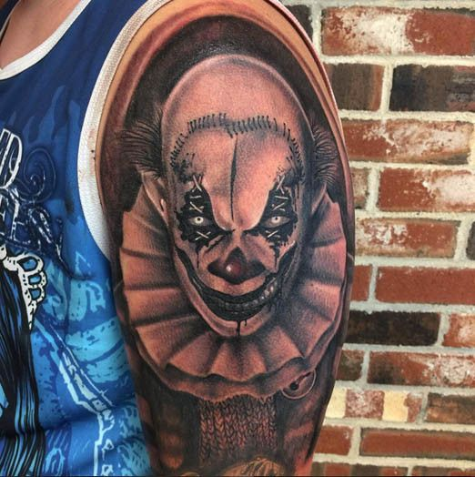 Best 25 Clown Tattoo Ideas On Pinterest: 194 Best Scary Clown Tattoos Images On Pinterest
