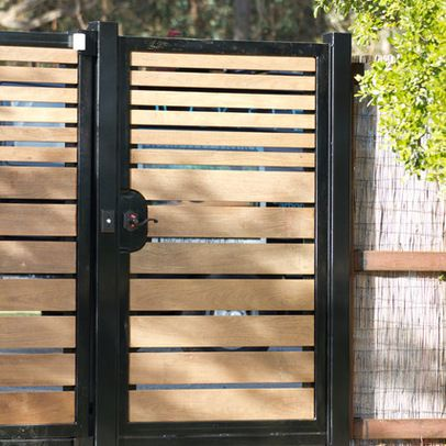 horizontal wood gate | Gates, Arbors, Entryways