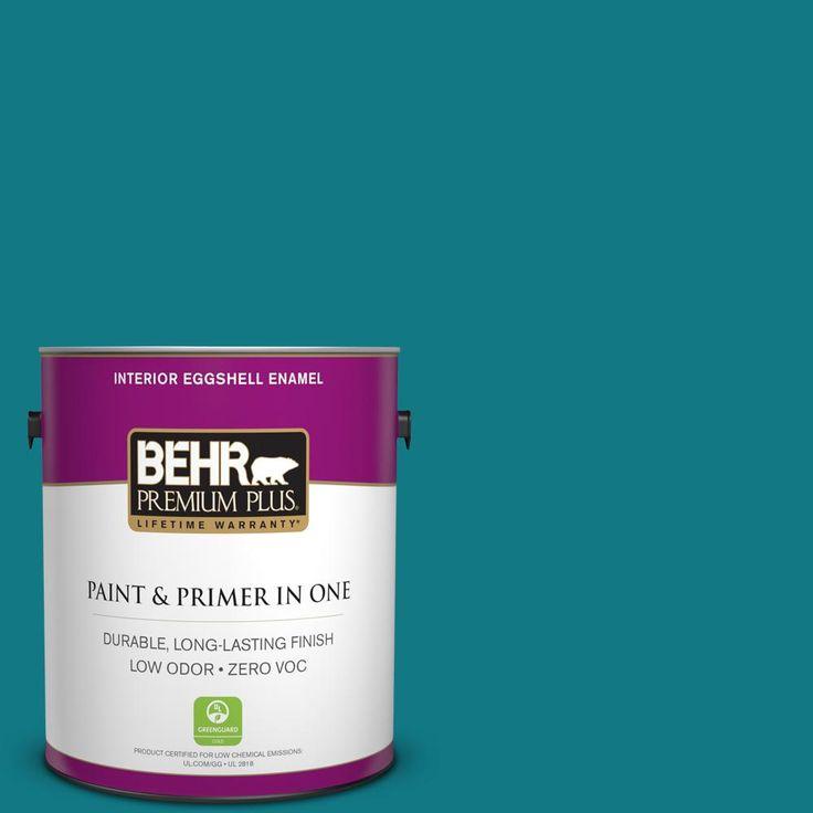 BEHR Premium Plus 1-gal. #P470-7 The Real Teal Eggshell Enamel Interior Paint