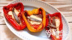 Gevulde paprika met ansjovis #groentehelden #recept #gezond #paprika #gevuldepaprika #vis #ansjovis