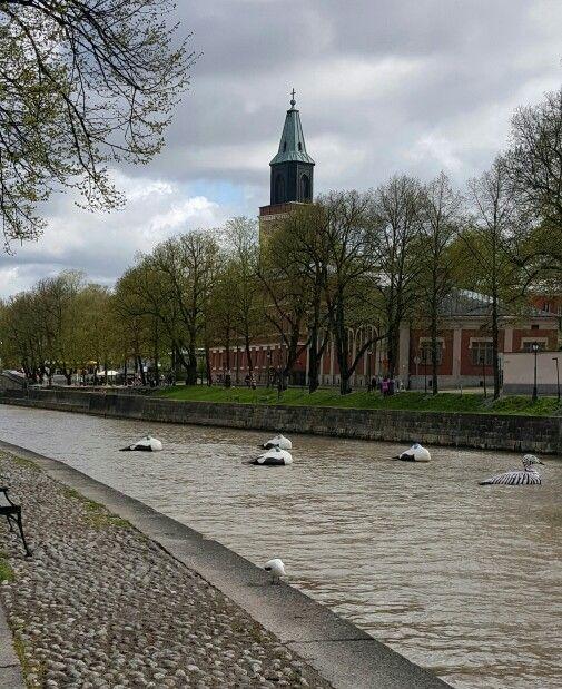 Aurajoki/river,Turku,Finland