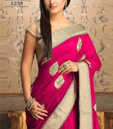 Buy Akshra pink worked georgette actress saree with blouse other-actress-saree online