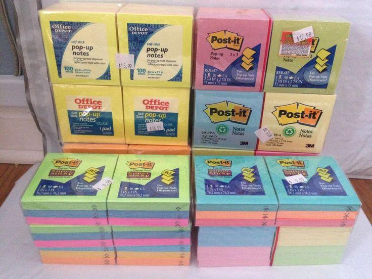10,320  Sheets Post it Notes 3M  Office Depot 3x3 Lot  Multicolor Sticky Notes  | eBay
