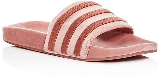 Adidas Women s Adilette Velvet Pool Slides...These slides are everything 2ed0bee53