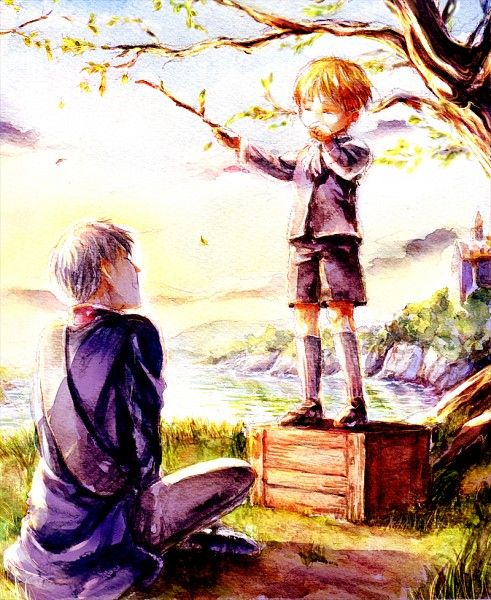 Prussia and little Germany (Hetalia)