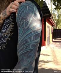 Image result for fixing a bad solid black tattoo