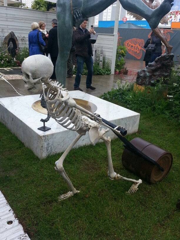 If I don't ease up on the amount of gardening I do, I'm going to end up just like him. The Chelsea Flower Show 2013