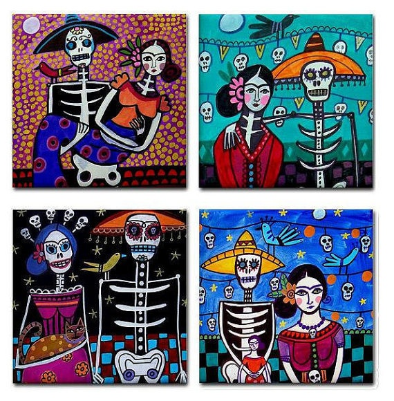 mexican tile art day of the dead - Bing Images