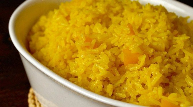 gele rijst met perzik 4