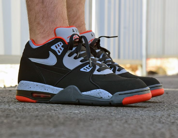 #Nike Air Flight 89 Black/Red #sneakers
