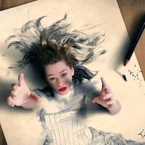 Realistic 3d drawing by tulliusheuer http://webneel.com/3d-drawings-pencil-art | Design Inspiration http://webneel.com | Follow us www.pinterest.com/webneel #3ddrawings #pencildrawings #3ddrawingsrealistic #drawingrealistic #realisticdrawings