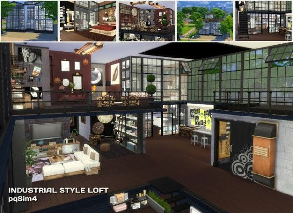 PQSims4 Industrial Style Loft  Sims 4 Downloads  the
