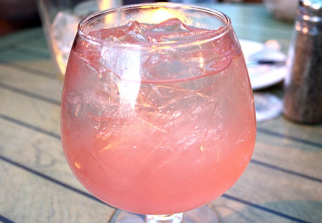Charley's Pink Sangria- A refreshing combination of White Zinfandel, Bacardi Limon Rum, Stoli Razberi Vodka,   DeKuyper Watermelon Schnapps, Sprite and fresh fruit.