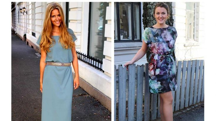 SYR EGNE KLÆR: Kristin Tyvoll (24) og Sara Feragen (24) har startet sin egen syblogg. Her har de på seg to selvsydde kjoler, som du også kan lage! Oppskriften finner du lenger ned i artikkelen.