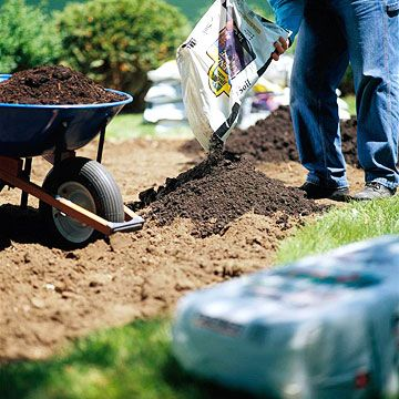Step 3: Dig It Up! Now comes the digging. Dig up or till your new garden, removing any rocks, roots, or other debris. If you have poor soil, now's also a great time to incorporate organic matter, such as compost. Just dig it in while you work the ground. Learn about the best garden tools.